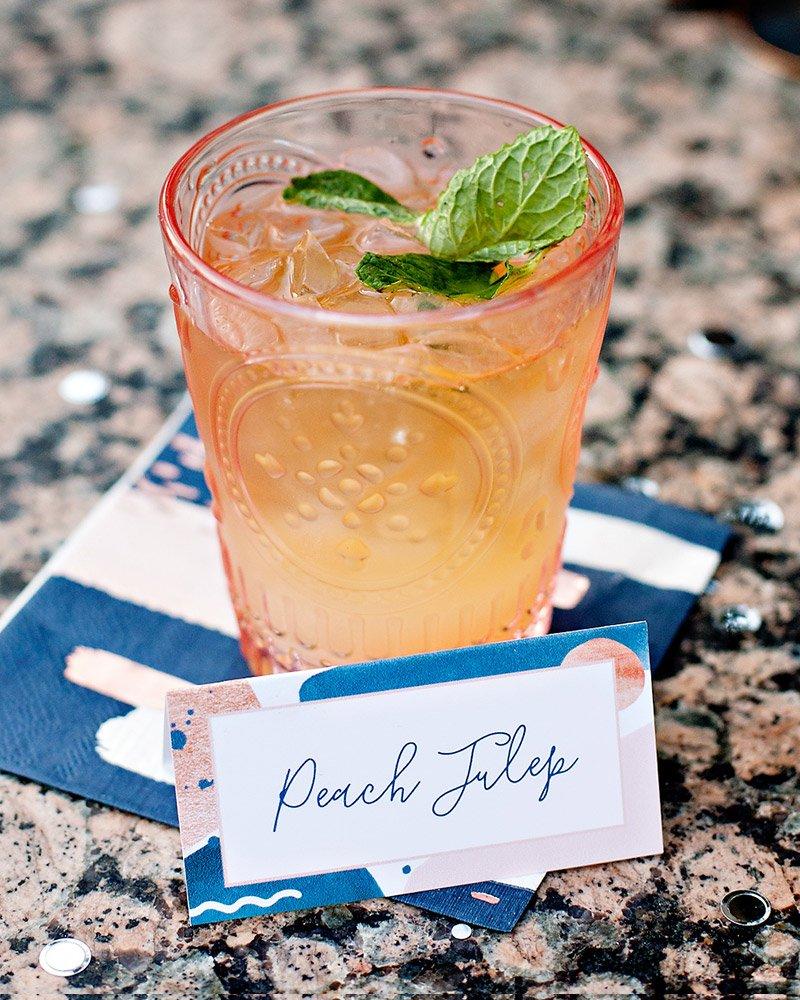 Peach Julep Cocktail