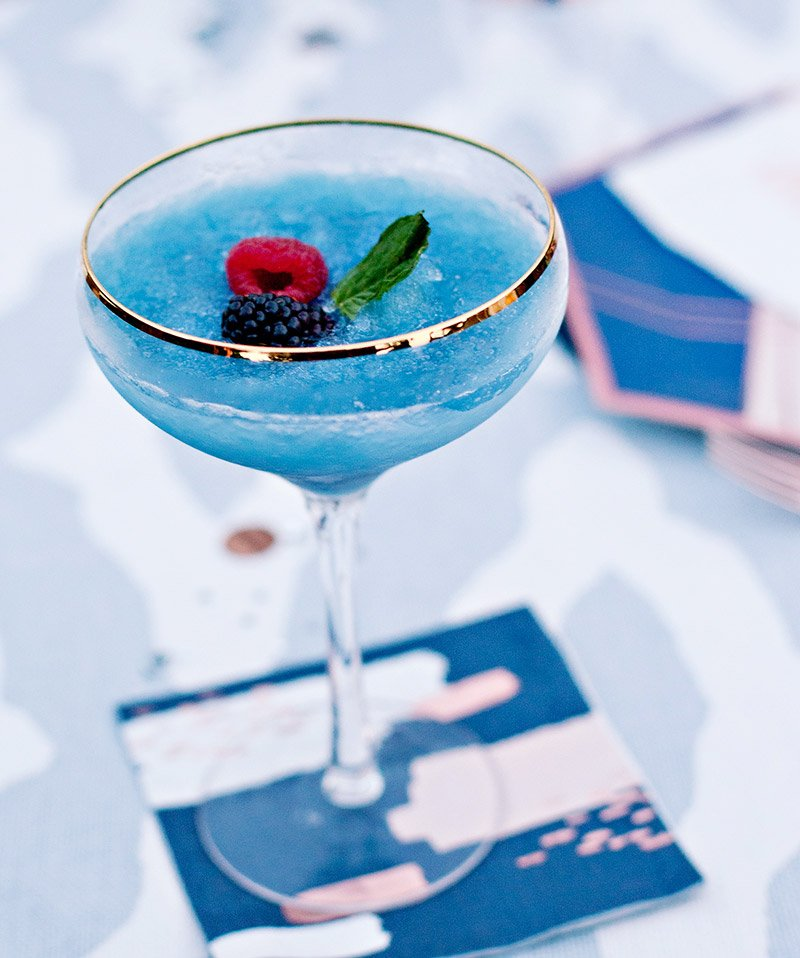 Frozen Blue Hawaiian Cocktail