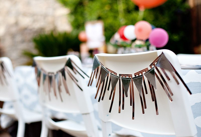 geometric party garland decorations