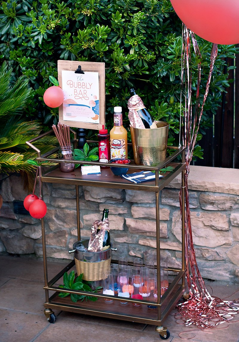 modern garden bubbly station