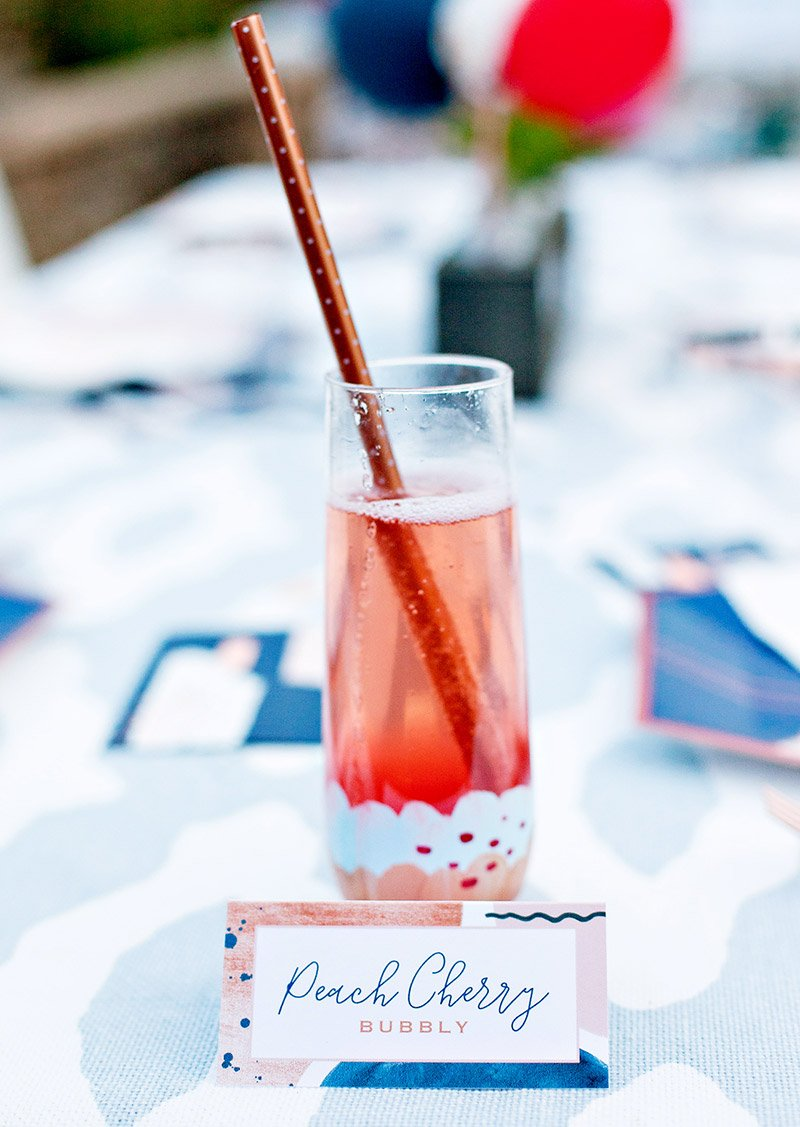 garden party champagne drink
