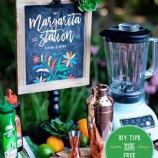 Margarita Station Printable Sign