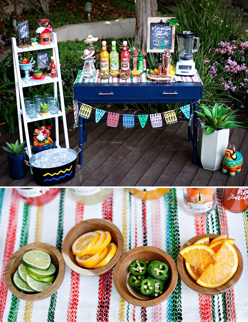 DIY Colorful Margarita Station Ideas