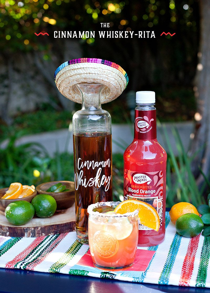 Blood Orange Cinnamon Whiskey-Rita