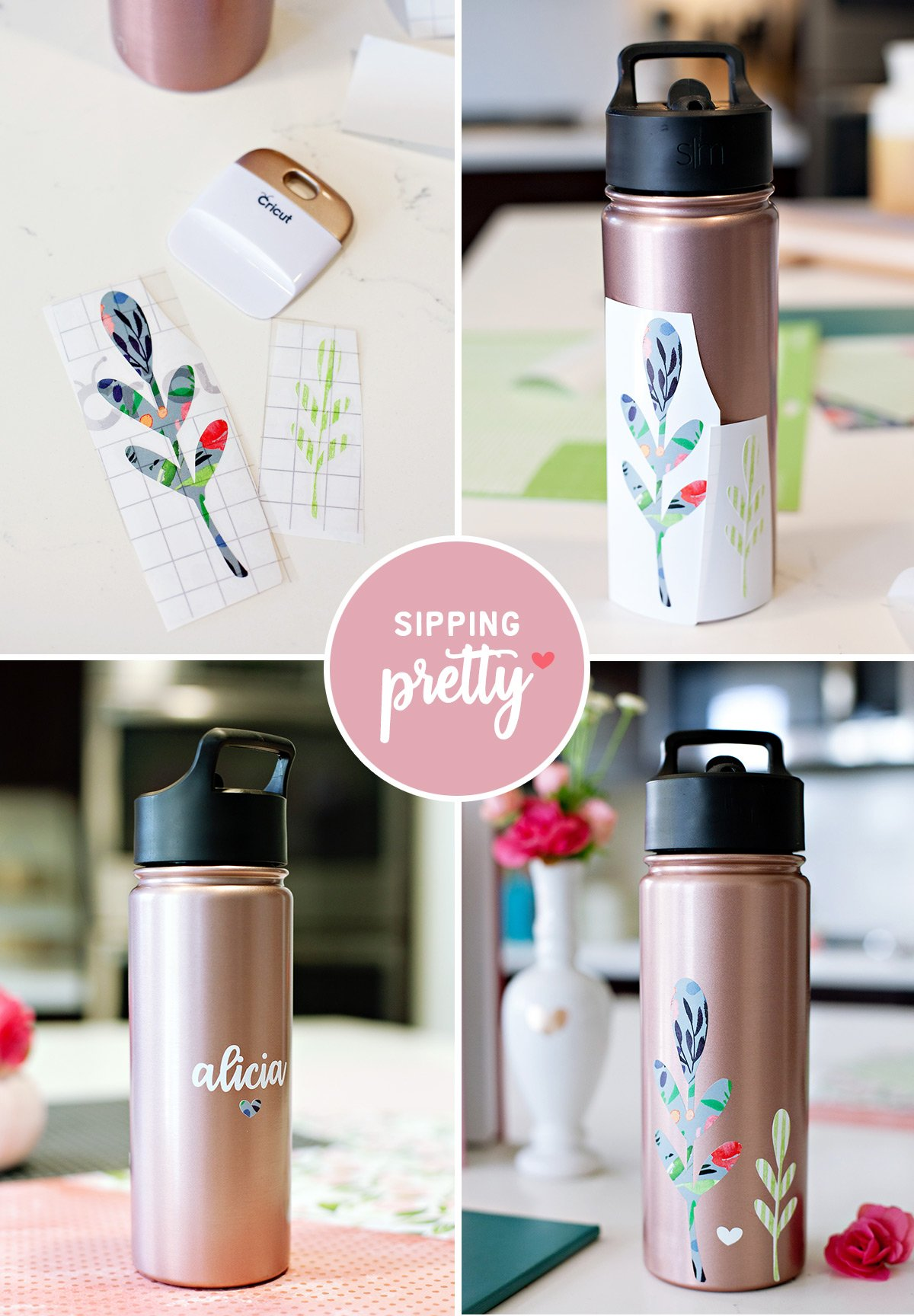 DIY Water Bottle Gift for Mom