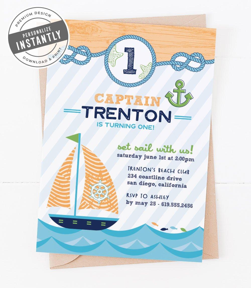 Nautical Birthday Party Invitation