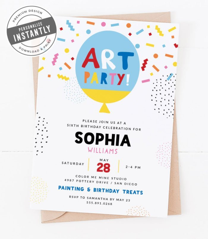 Colorful & Creative Party Invitation