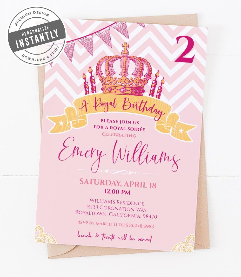 Royal Princess Birthday Party Invitation
