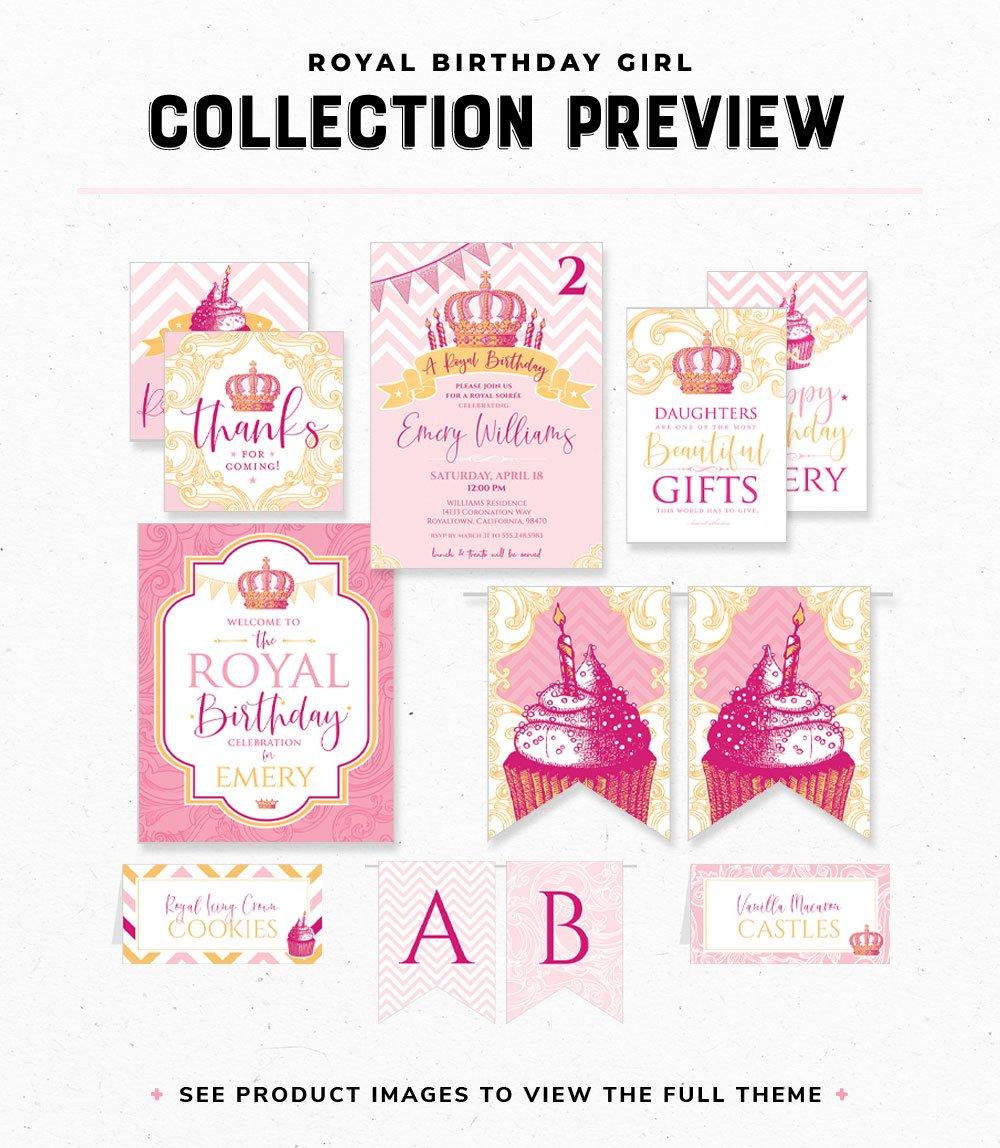 Royal Princess Birthday Printables