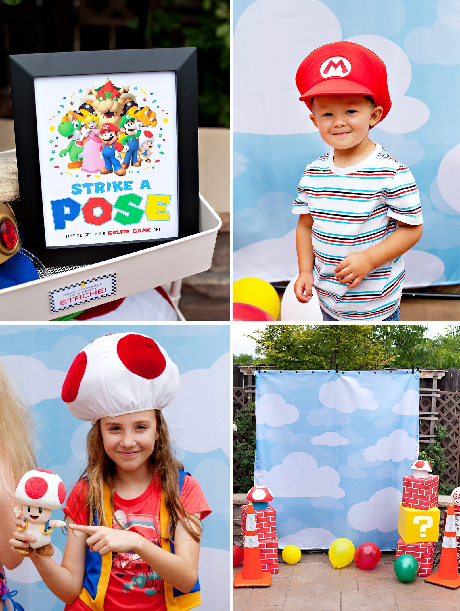 Super Mario DIY Photo Booth Ideas