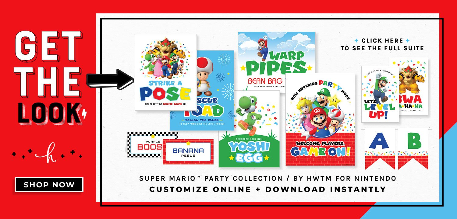 Super Mario Party Printables Free