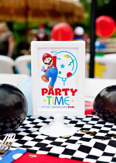 Super Mario Party Printables