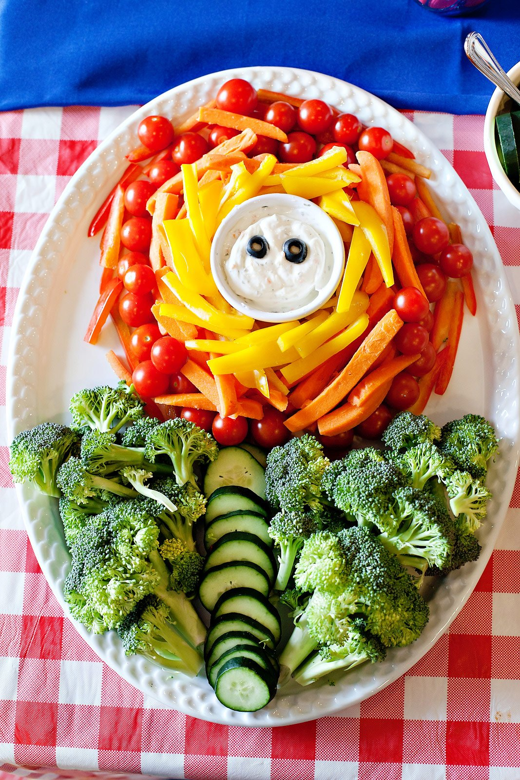 Super Mario Fire Flower Veggie Tray