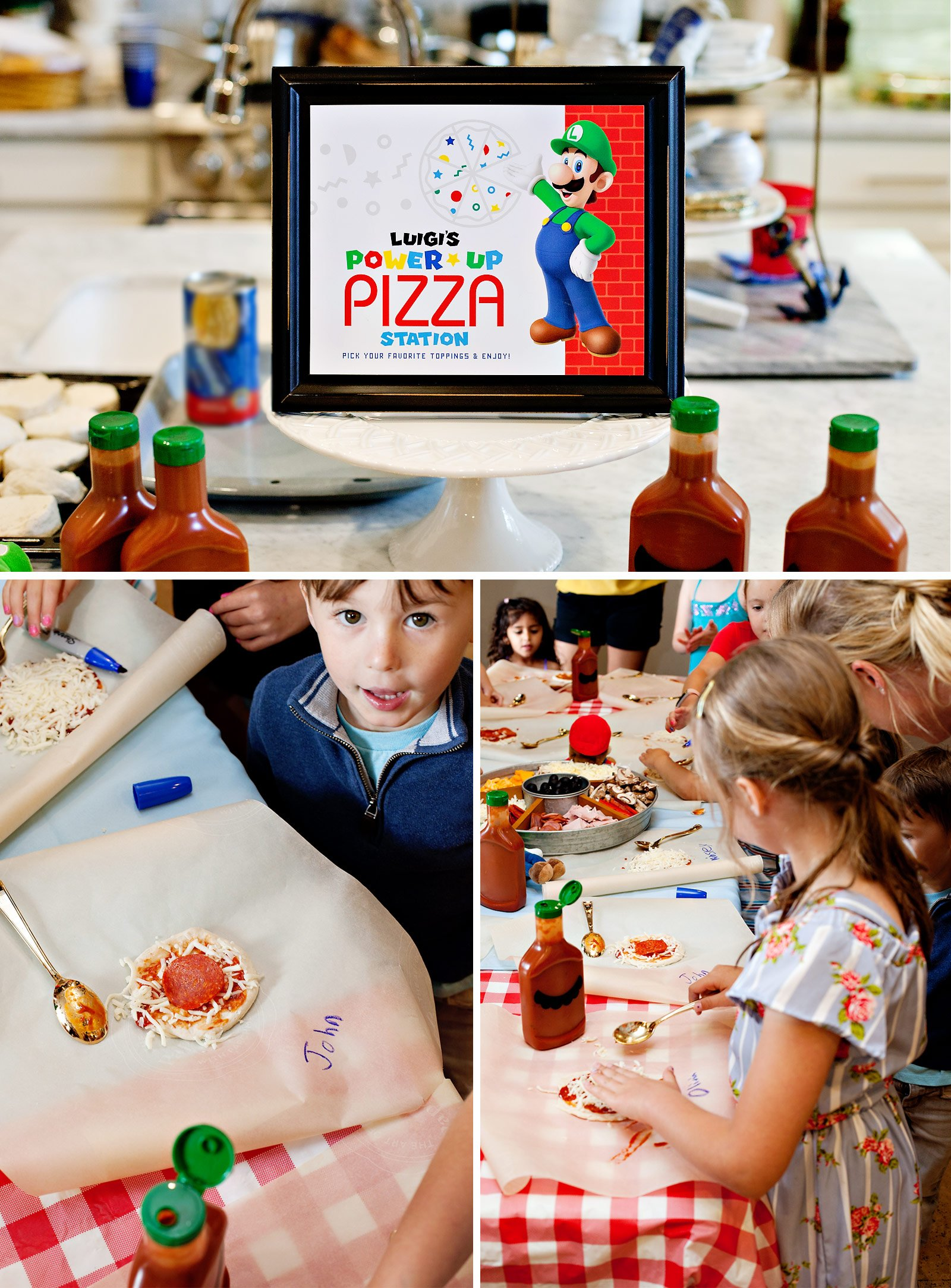 Super Mario Party Kids Pizza Station