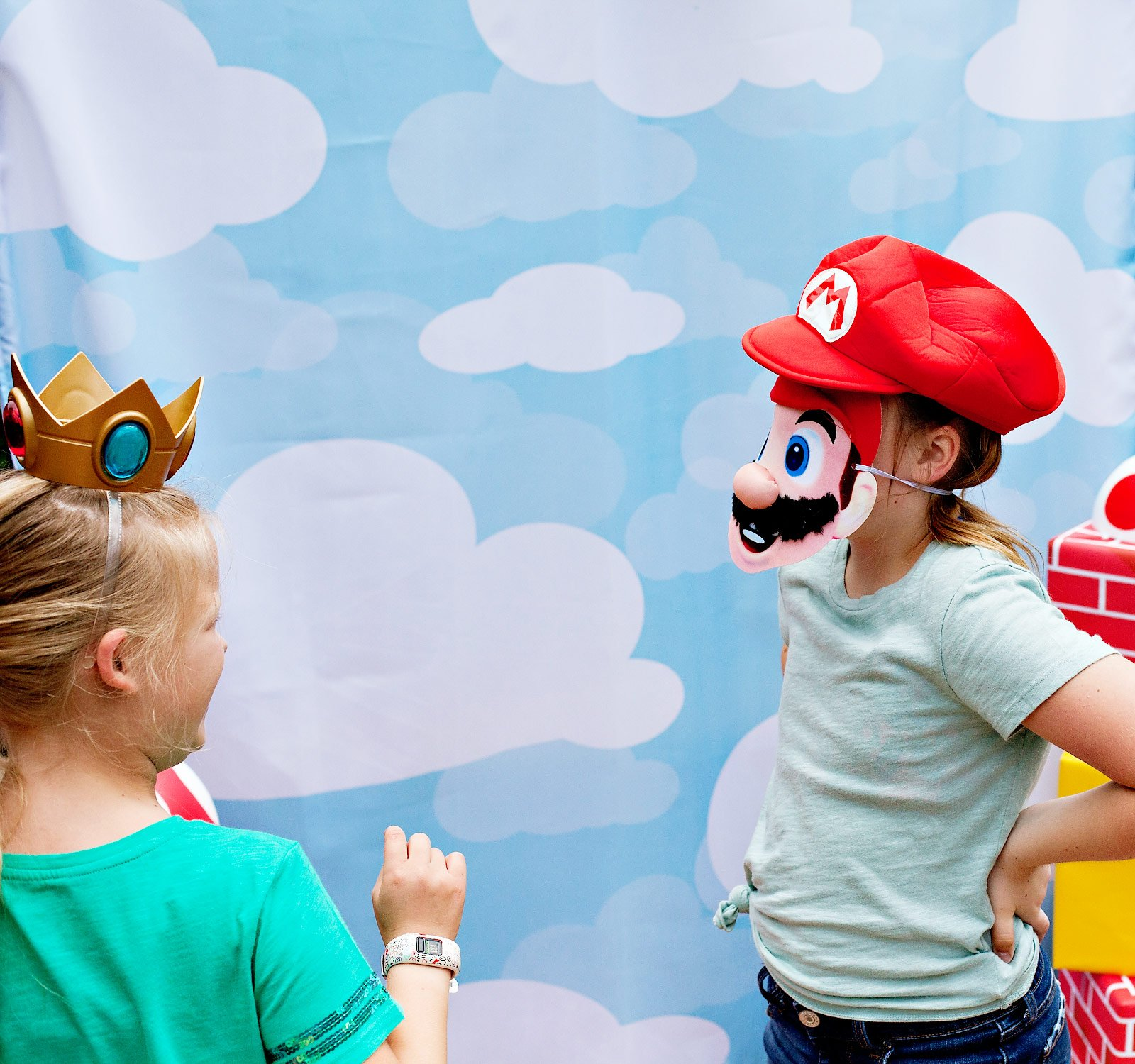 Super Mario Party Photo Booth Fun