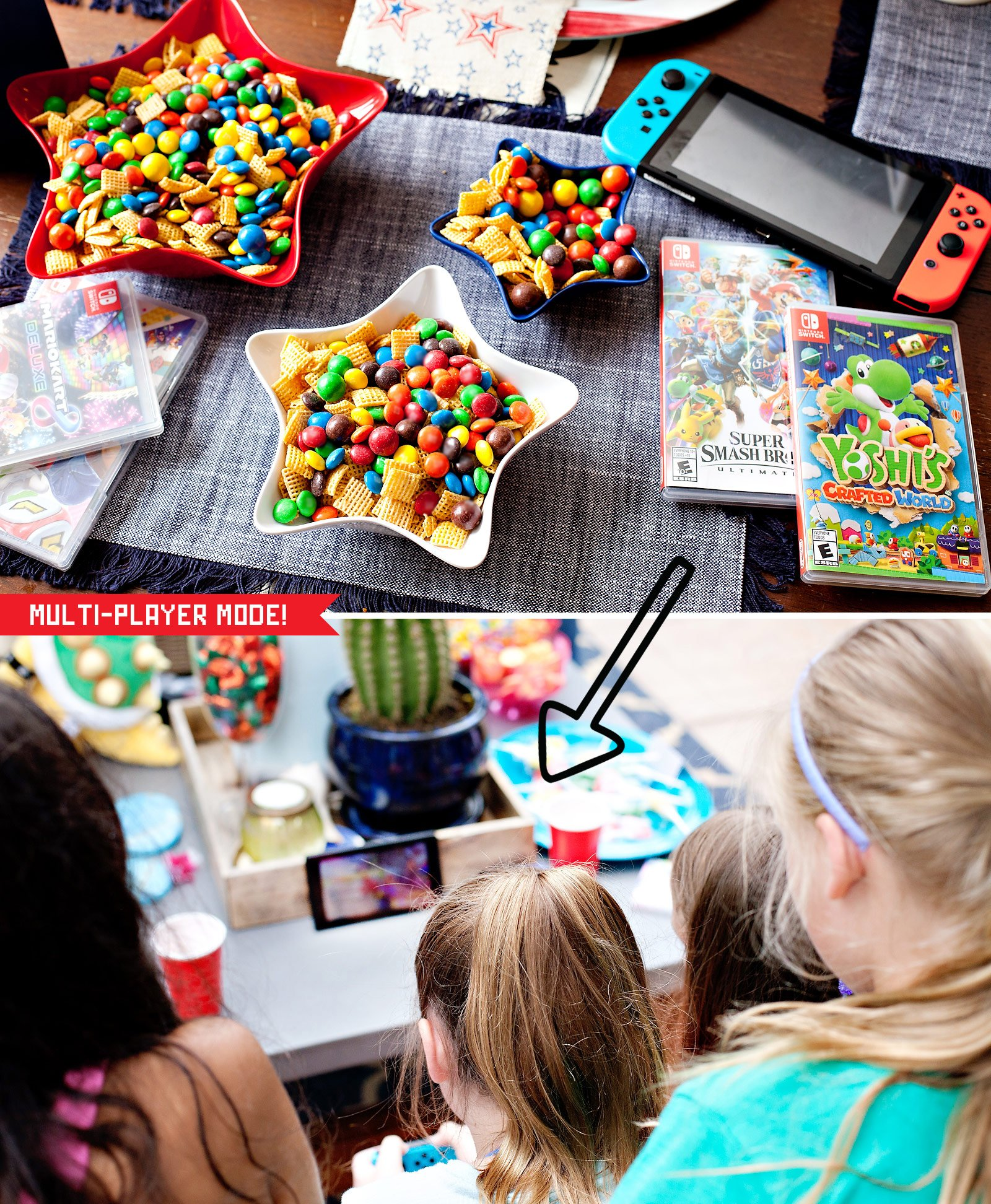 kids playing Nintendo Switch games