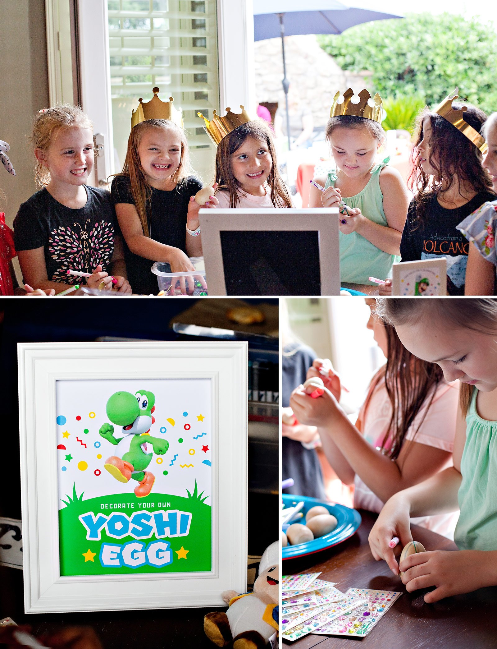 Yoshi Egg Decorating Mario Party Activity