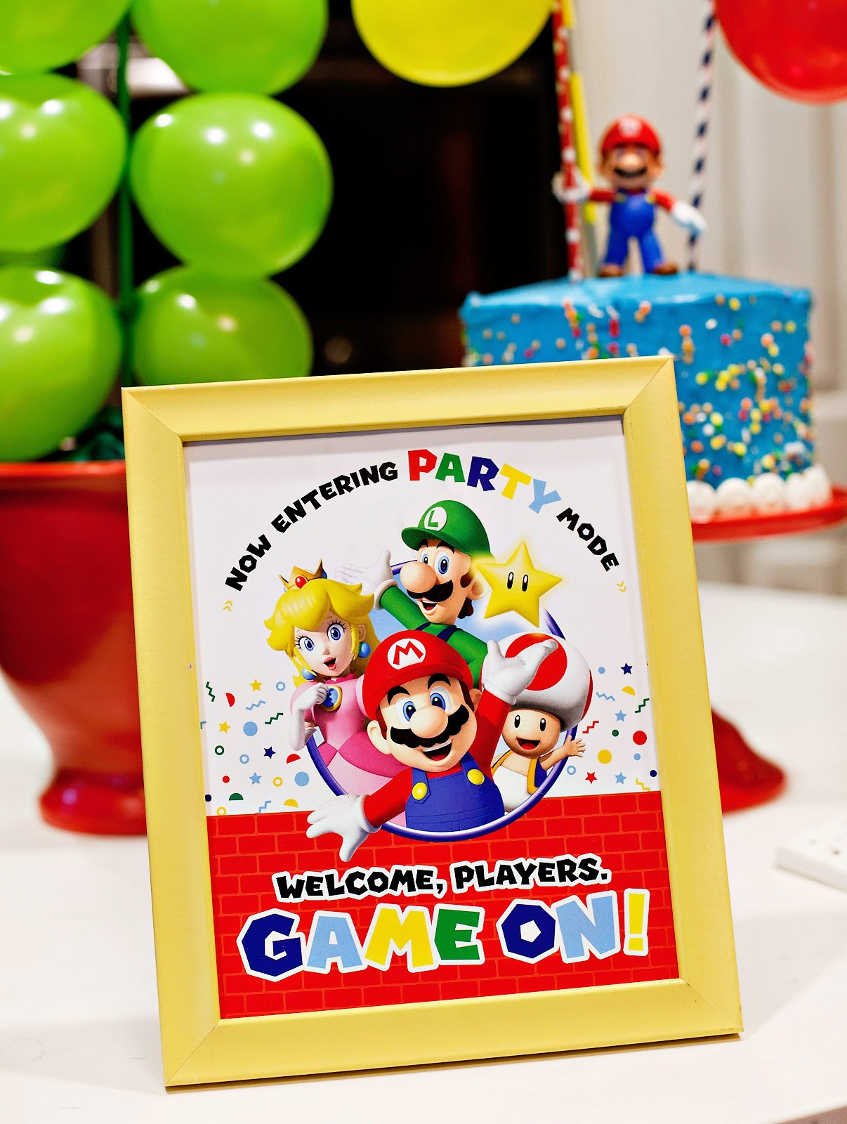 super mario party sign free printable