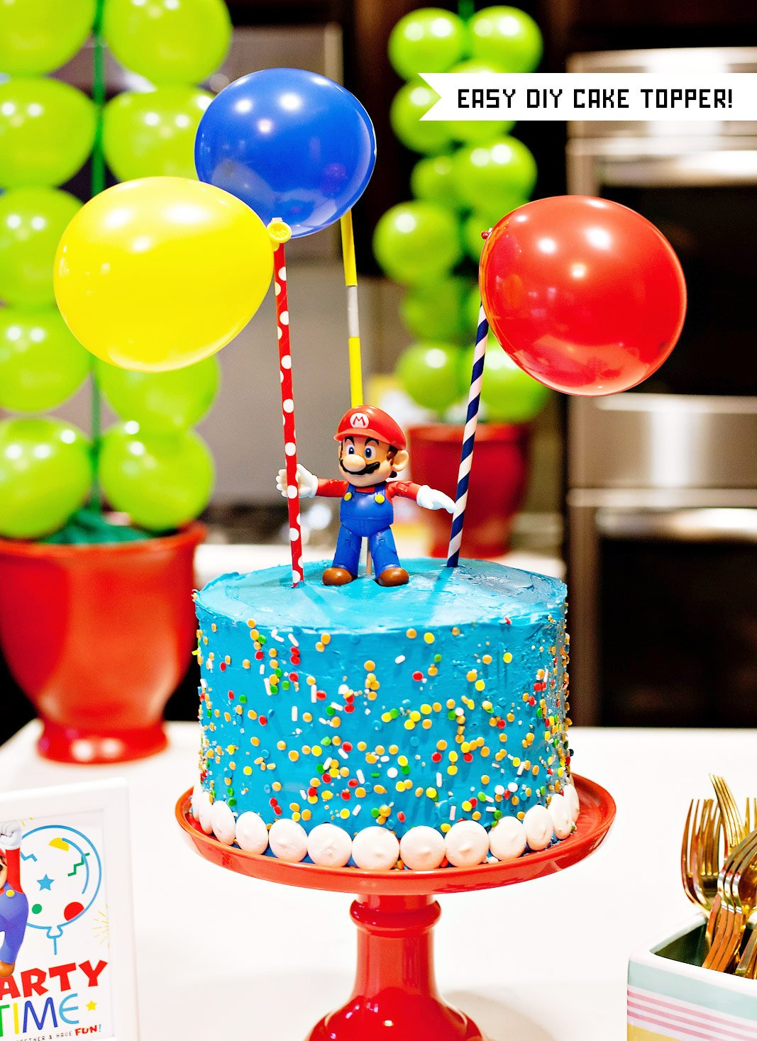 Super Mario Party Cake Homemade