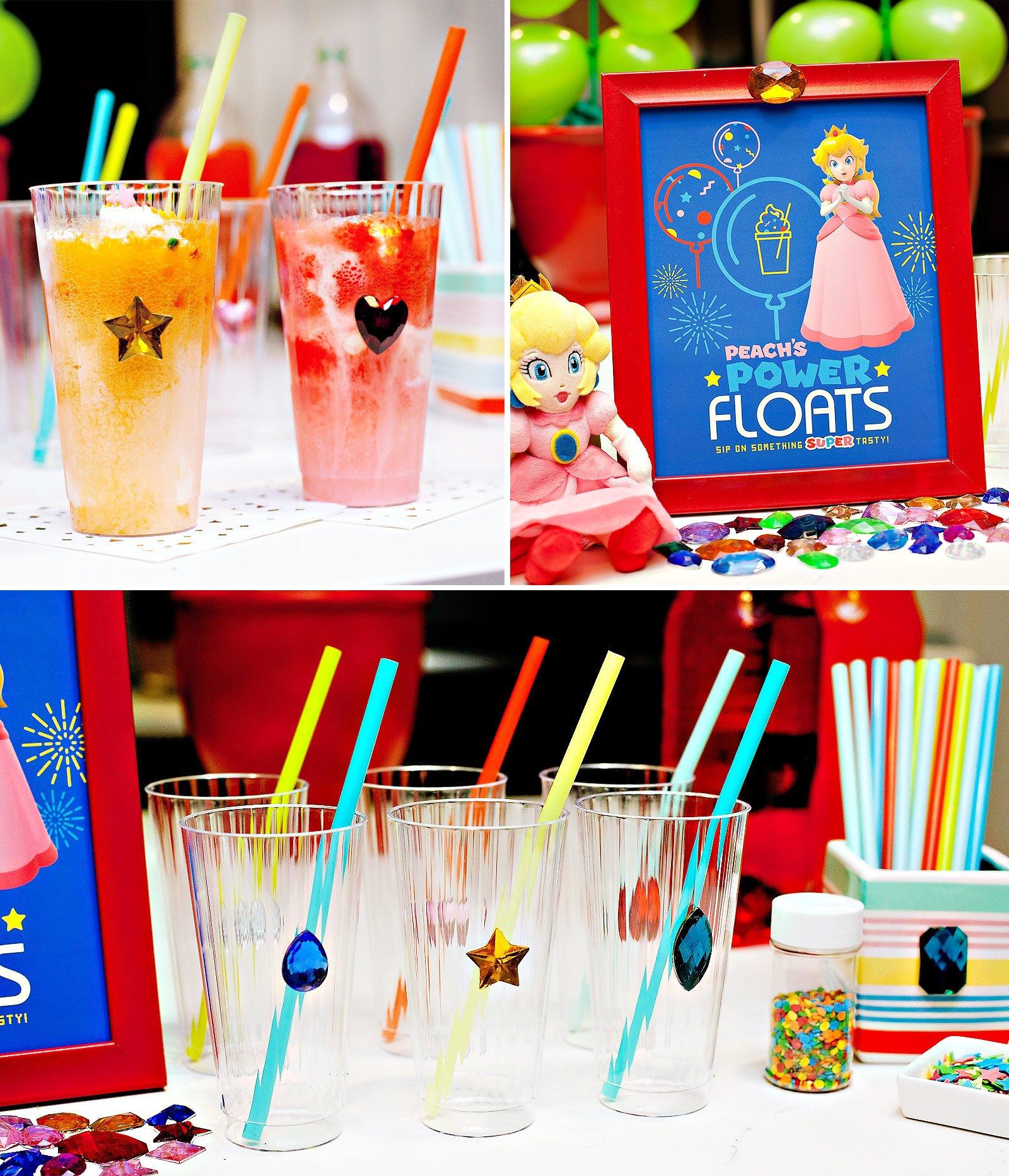 Super Mario Ice Cream Floats - Princess Peach