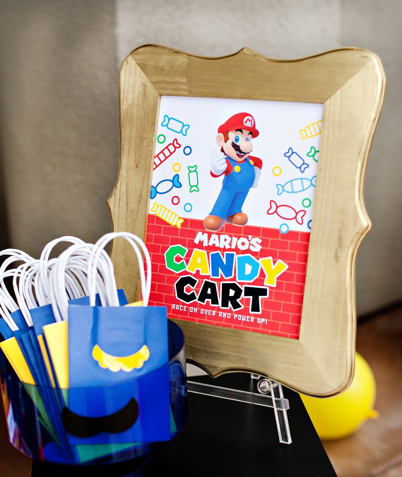Printable Mario Party Sign - Candy Cart