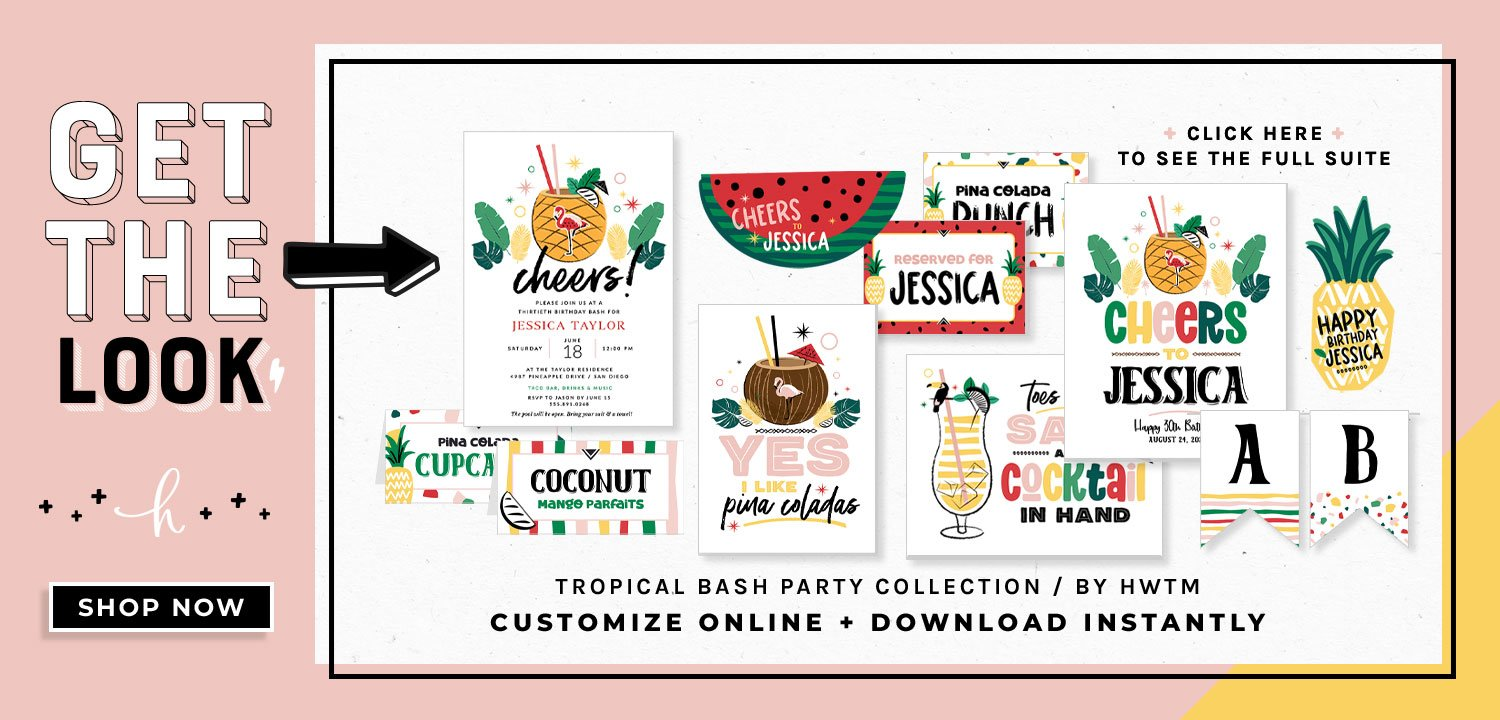 Tropical Bash Printables
