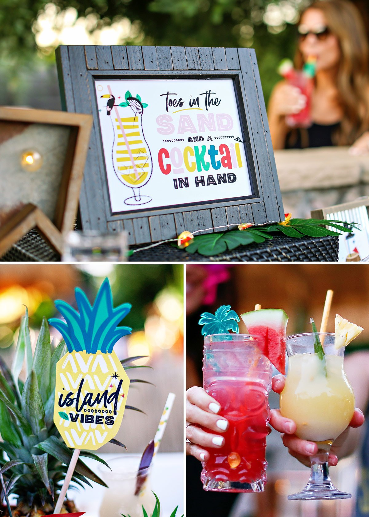 Tropical Party Printables and Drinks