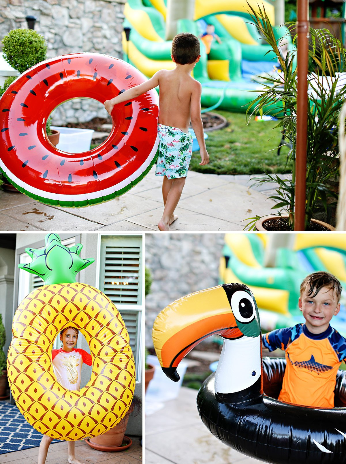 tropical party pool floats