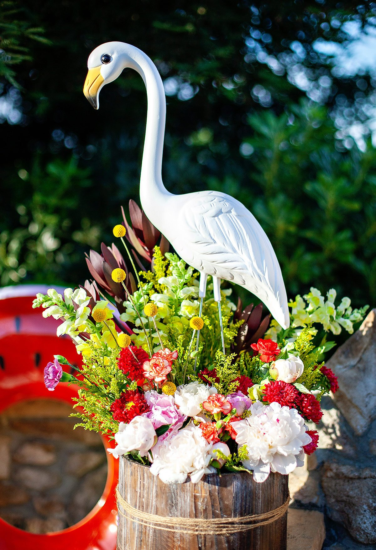 flamingo flower arrangement