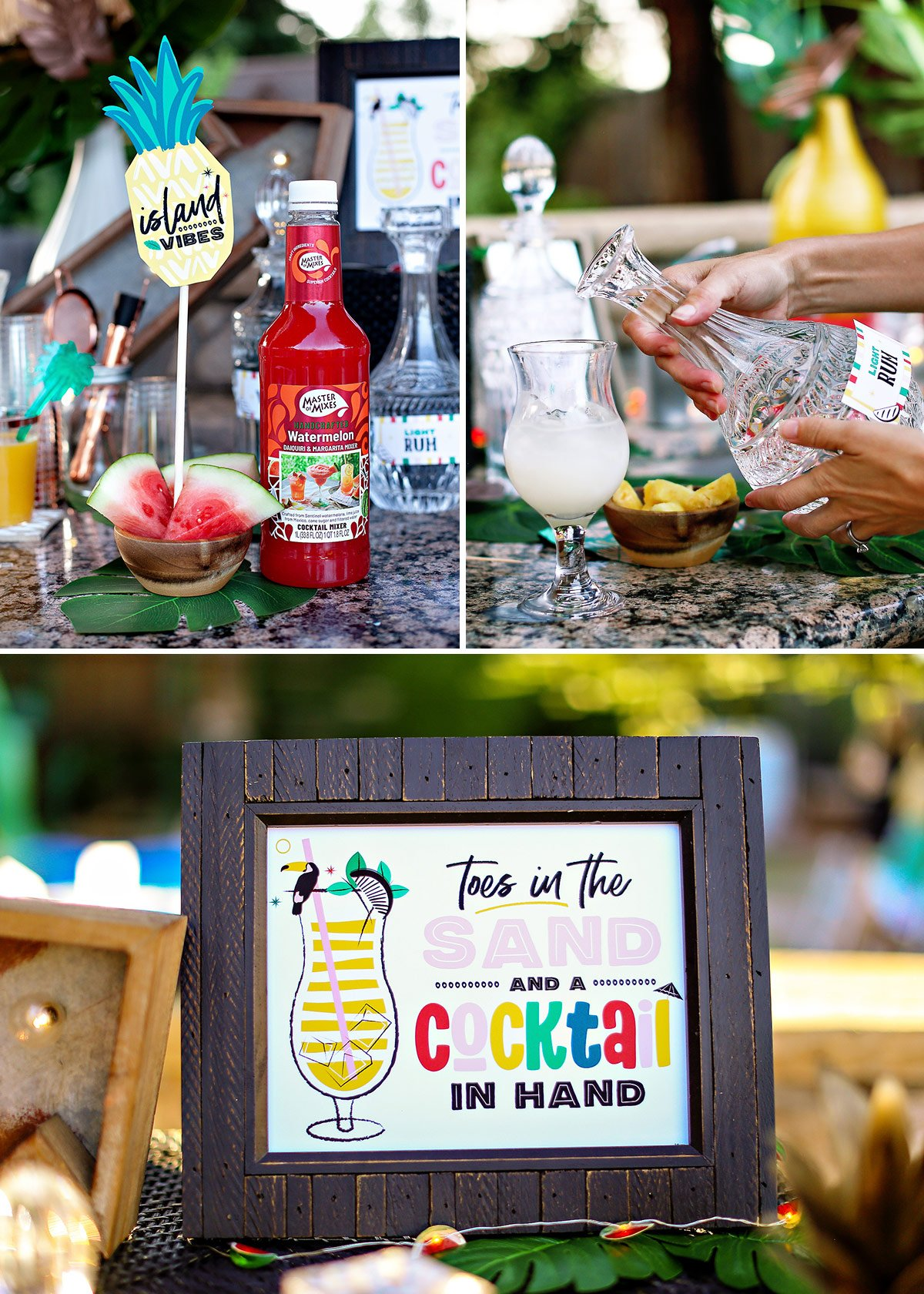 tropical cocktail party ideas