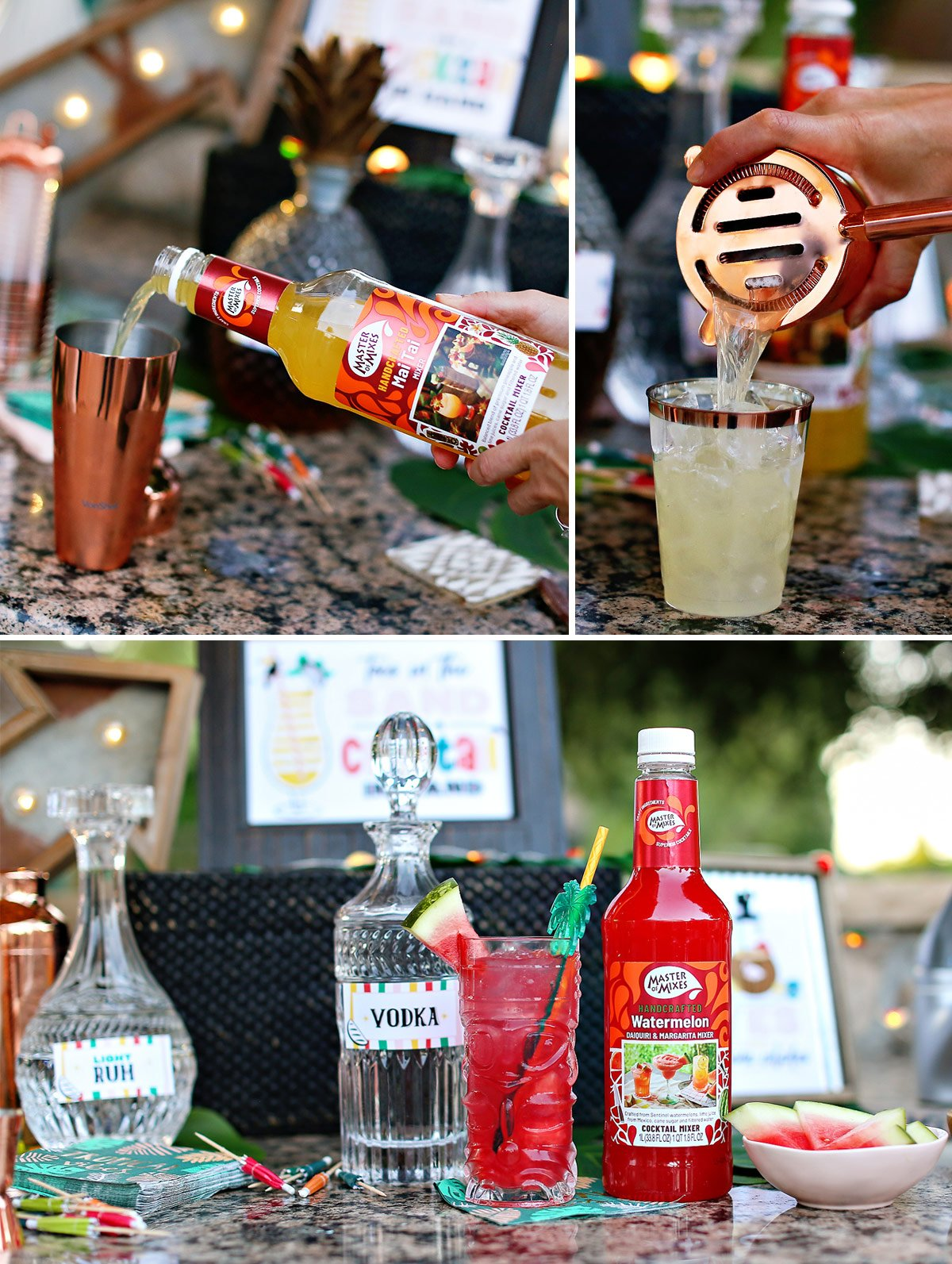 Master of Mixes tropical cocktail mixers