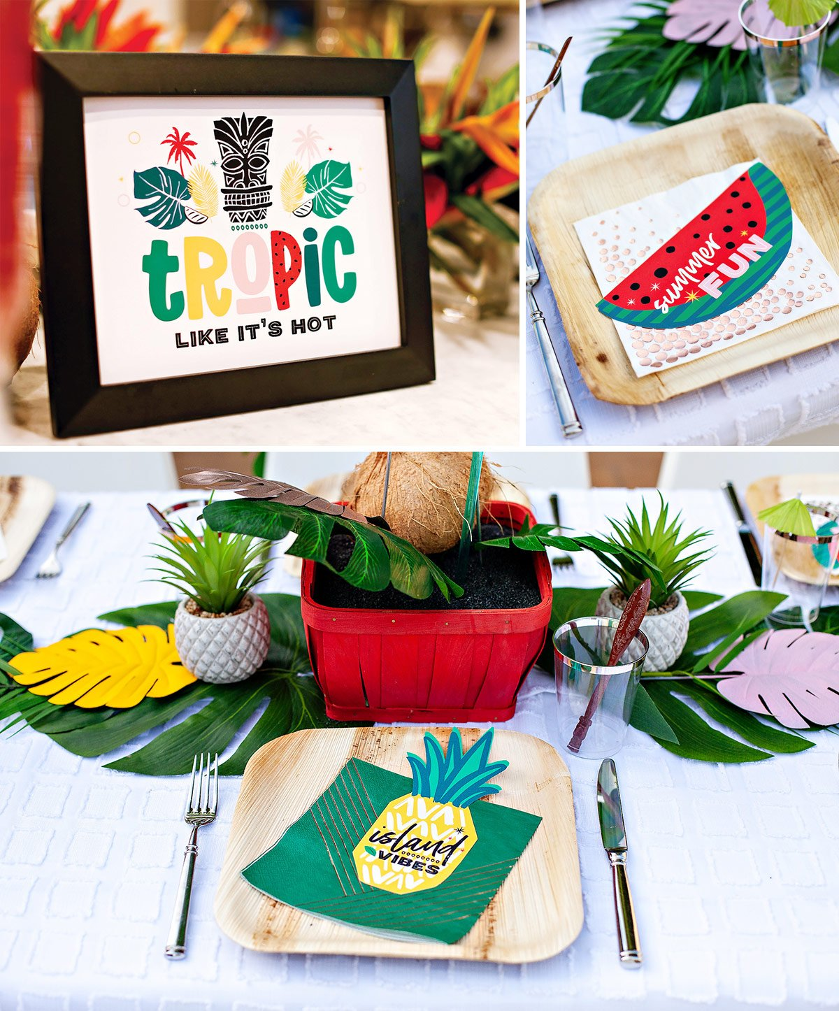 tropical party free printables