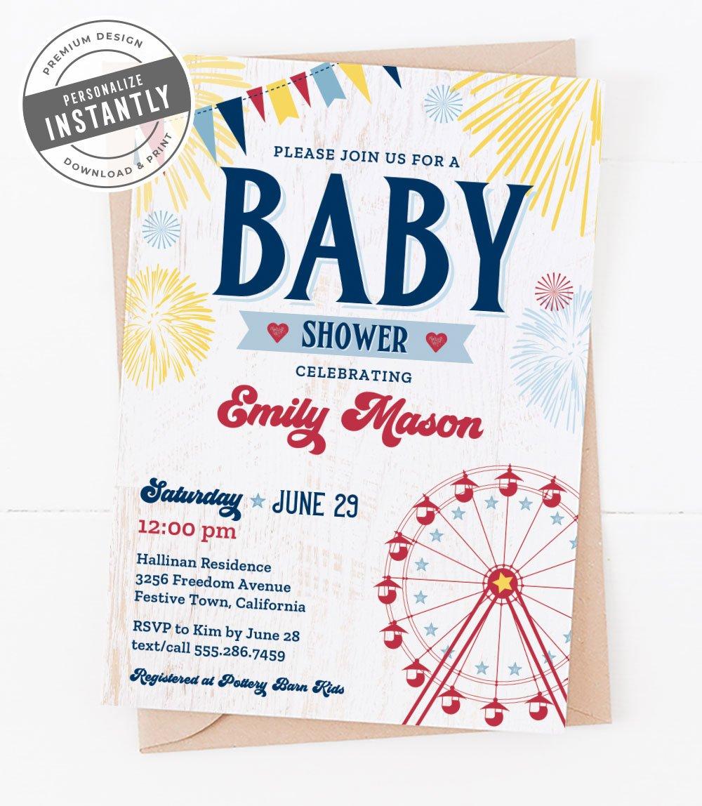 County Fair Baby Shower Invitation