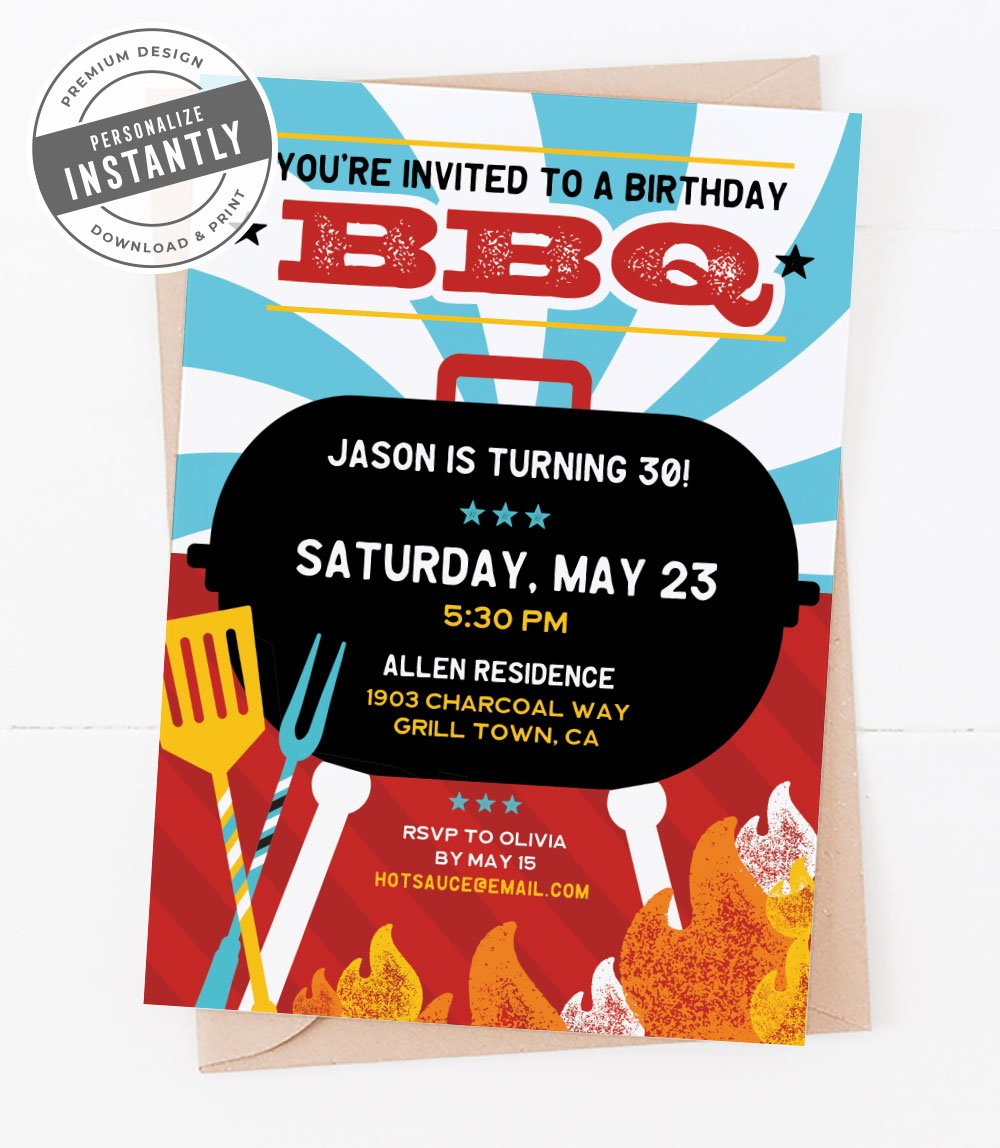 Summer Grilling Party Invitation