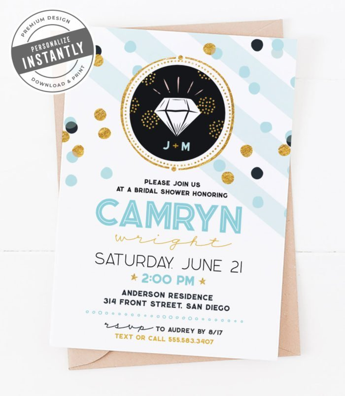 Confetti Glam Bridal Shower Invitation