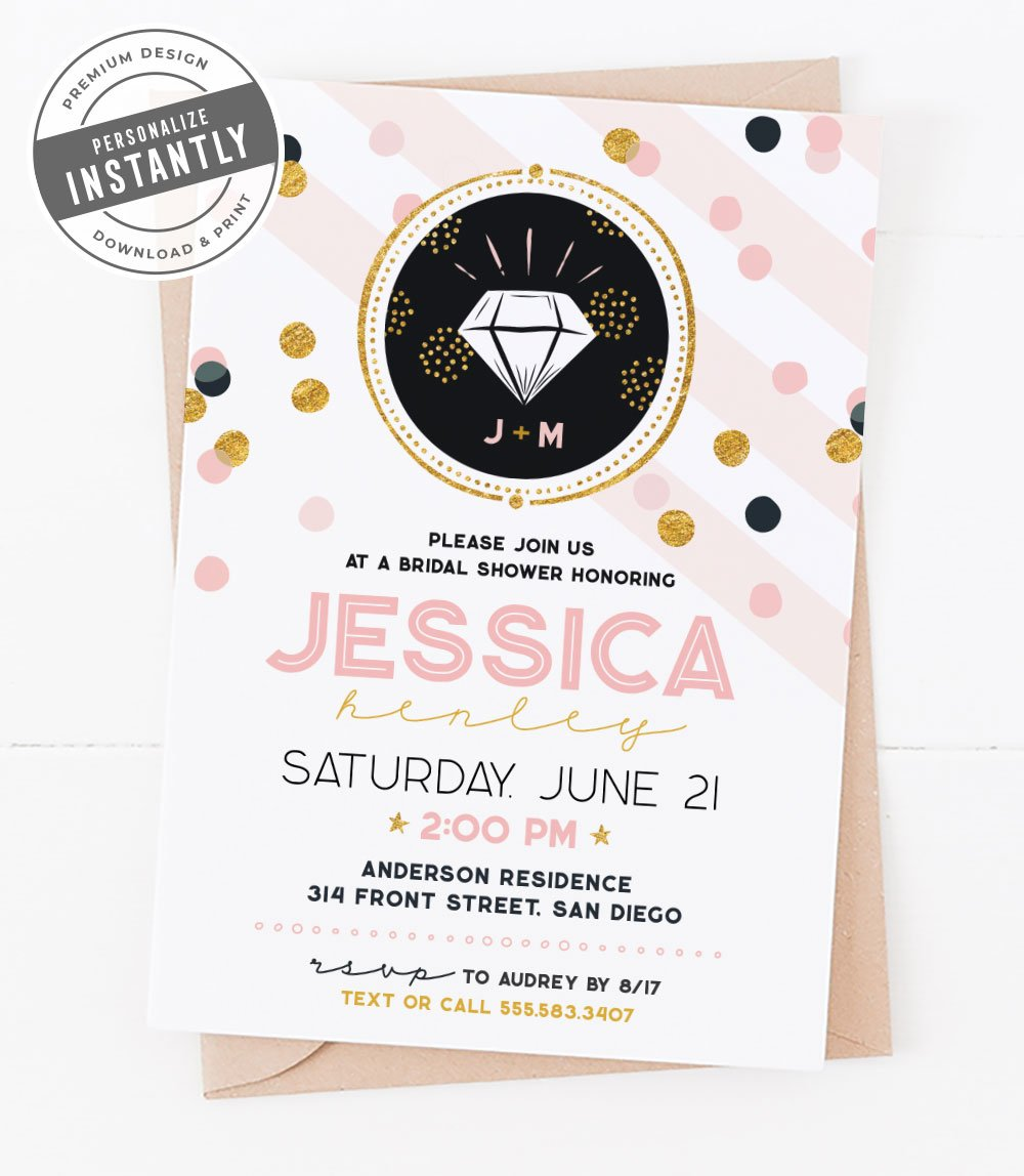 Confetti Glam Bridal Shower Invitation