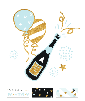 Champagne Birthday Theme