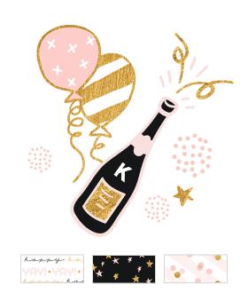 Champagne Birthday Theme