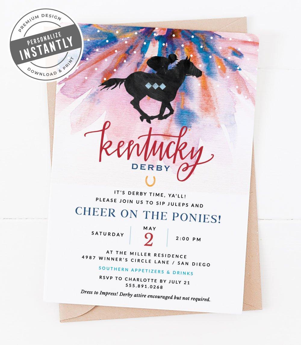 Kentucky Derby Garden Party Invitation