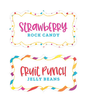 Rainbow Fest Editable Labels