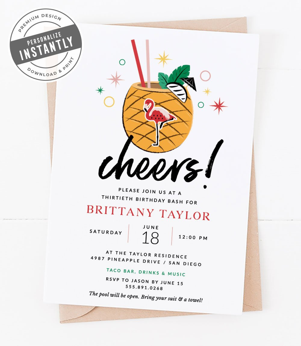 Tropical Vibes Party Invitation
