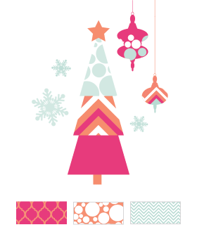 Mod Holiday Printables Pink
