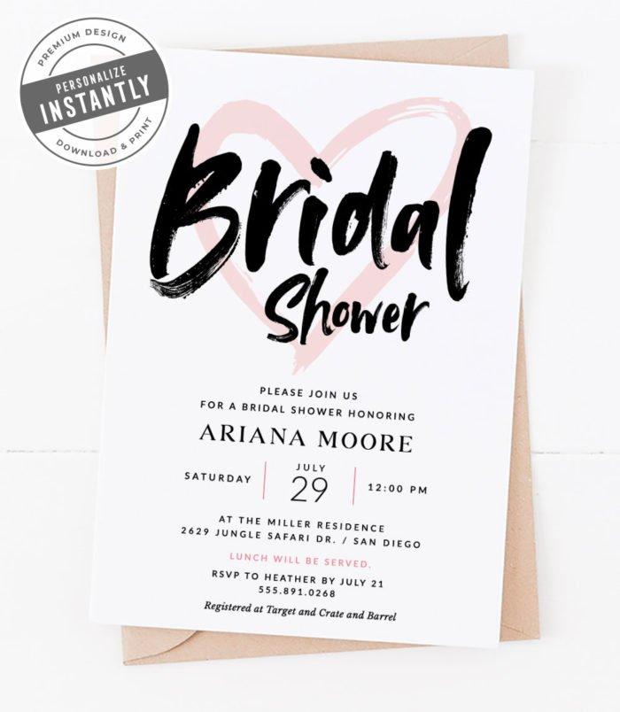 Safari Themed Bridal Shower Invitation