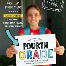 Editable Back to School First Day Photo Signs