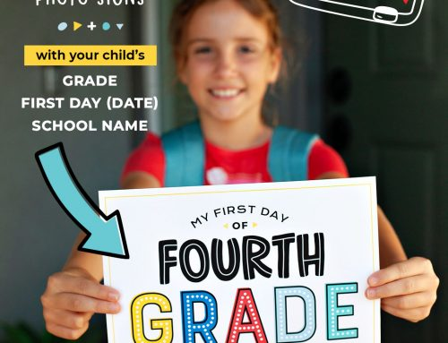 Your Editable First Day of School Photo Signs!