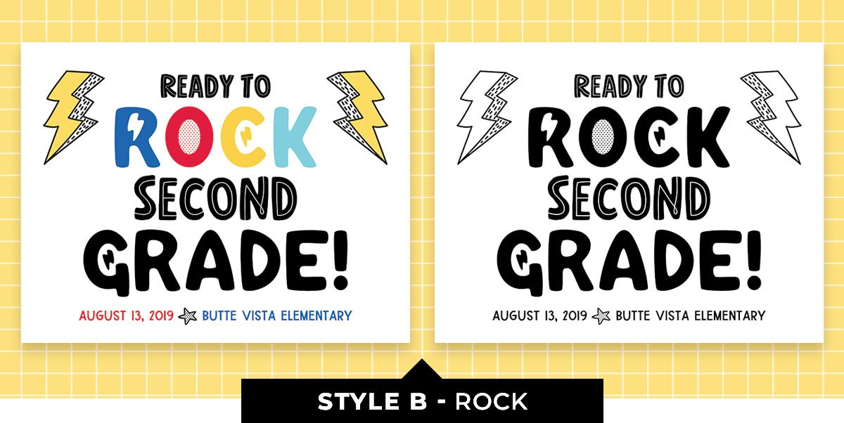 Editable Back to School Sign - Ready to Rock