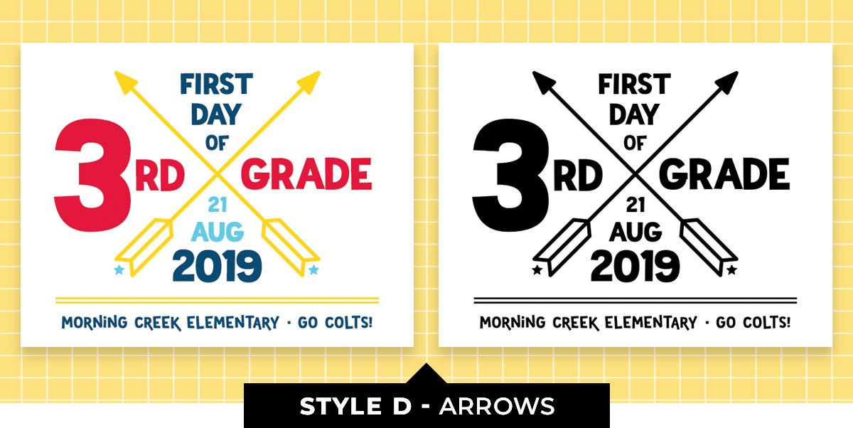 Editable Back to School Sign - Arrows