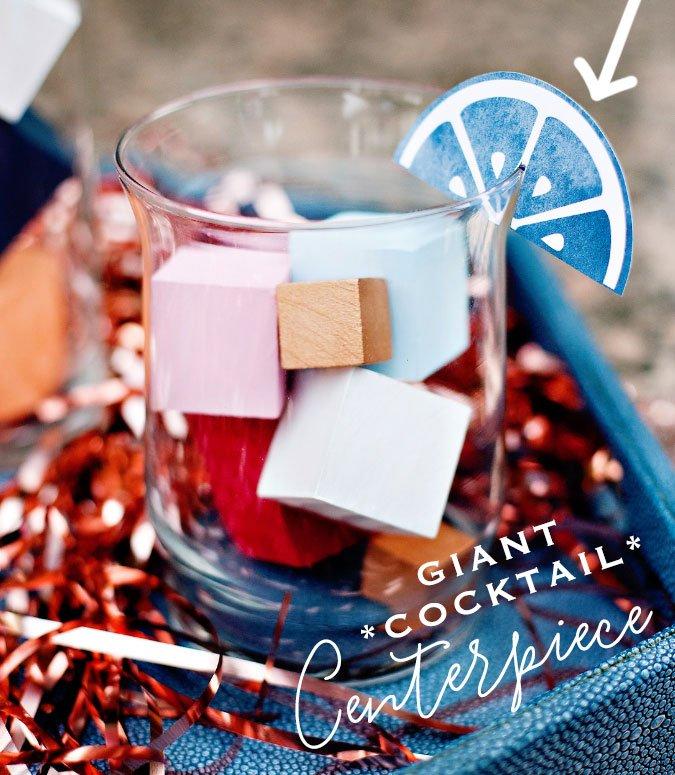 diy cocktail party centerpiece