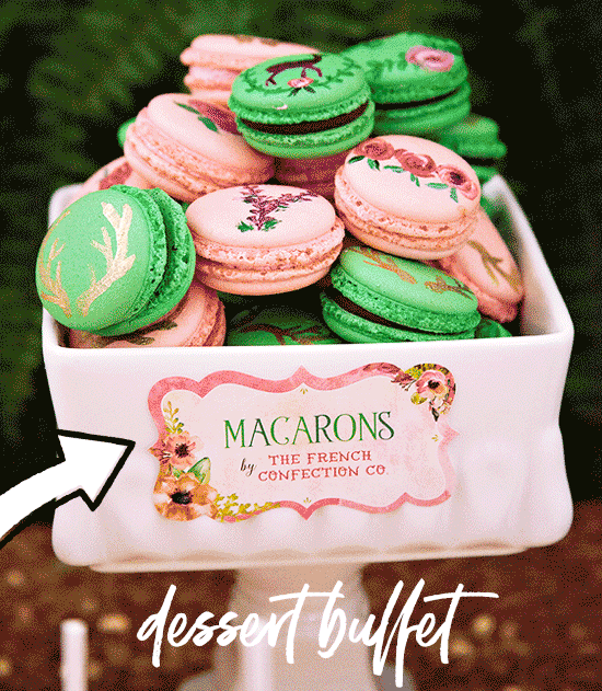 editable dessert label
