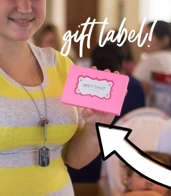 scalloped gift label